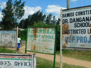 The Water Project:  Kitambazi Primary School Sign