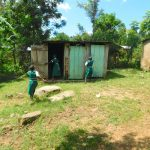 The Water Project: Kitambazi Primary School -  The Ladies Latrines In Use