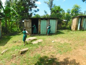 The Water Project:  The Ladies Latrines In Use