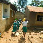 The Water Project: Kitambazi Primary School -  Students Deliver Water To Kitchen As Central Point