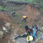 The Water Project: Mahira Community, Wora Spring -  Grass Planting And Washing Steps