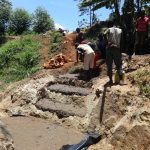 The Water Project: Mahira Community, Wora Spring -  Stair Construction