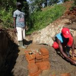 The Water Project: Mahira Community, Wora Spring -  Brick Setting