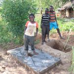 The Water Project: Mahira Community, Wora Spring -  Posing With A New Sanplat