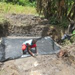 The Water Project: Litinye Community, Shivina Spring -  Preparing Foundation