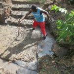 The Water Project: Litinye Community, Shivina Spring -  Leveling Foundation