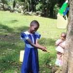 The Water Project: Litinye Community, Shivina Spring -  Handwashing Demonstration