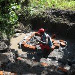 The Water Project: Litinye Community, Shivina Spring -  Brick Headwall Measurements