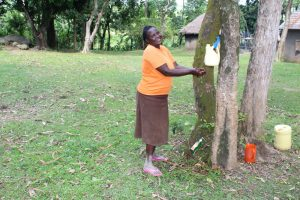 The Water Project:  Mary Mulanda Washes Her Hands Using Leaky Tin