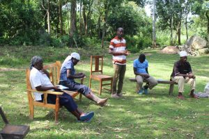 The Water Project:  Community Member Addressing Participants