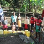 The Water Project: Litinye Community, Shivina Spring -  Community Members Posing At The Spring