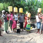 The Water Project: Litinye Community, Shivina Spring -  Happy After Fetching From New Spring