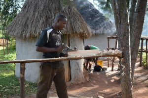 The Water Project:  Boaz At Work In Carpentry