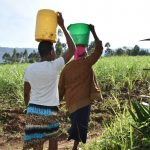 The Water Project: Machemo Community, Boaz Mukulo Spring -  Carrying Water Home