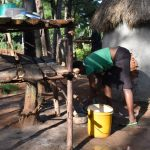 The Water Project: Machemo Community, Boaz Mukulo Spring -  Dishrack