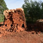 The Water Project: Machemo Community, Boaz Mukulo Spring -  Brick Making Site