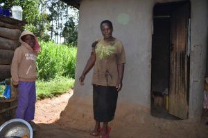 The Water Project:  Agnes With Her Son At Home