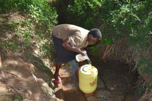 The Water Project:  Agnes Fetching Water