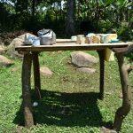 The Water Project: Imbiakalo Community, Askari Spring -  Dishrack