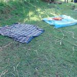 The Water Project: Indulusia Community, Osanya Spring -  Beddings Left To Dry On The Ground