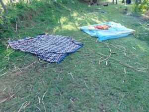 The Water Project:  Beddings Left To Dry On The Ground