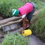 The Water Project: Makhwabuyu Community, Sayia Spring -  Collecting Water