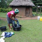 The Water Project: Makhwabuyu Community, Sayia Spring -  Washing Clothes