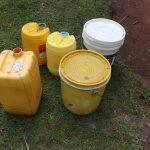 The Water Project: Makhwabuyu Community, Sayia Spring -  Water Storage