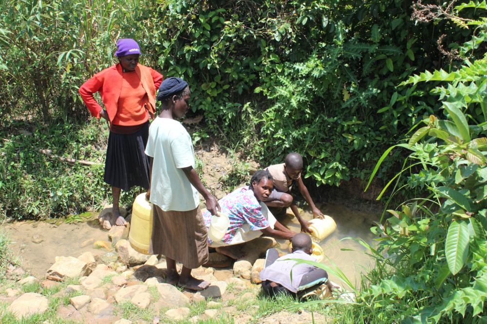 The Water Project : kenya20205-fetching-water-3