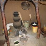 The Water Project: Mukhuyu Community, Gideon Kakai Chelagat Spring -  Fireplace Inside Kitchen