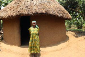 The Water Project:  Madam Kakai Outside Her Hut