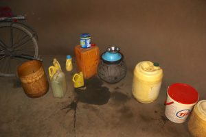 The Water Project:  Storage Containers And A Pot For Drinking Water