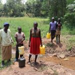 The Water Project: Mukhonje B Community, Peter Yakhama Spring -  Community Members At The Water Point