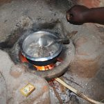 The Water Project: Mukhonje B Community, Peter Yakhama Spring -  Cooking Over The Kitchen Fireplace