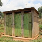 The Water Project: Mukhonje B Community, Peter Yakhama Spring -  Pit Latrine With A Bathing Room Attached