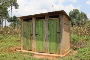 The Water Project:  Pit Latrine With A Bathing Room Attached