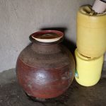 The Water Project: Mukhonje B Community, Peter Yakhama Spring -  Pot With Lid For Storing Drinking Water