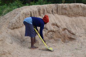 The Water Project:  Sand For Mixing With The Cement