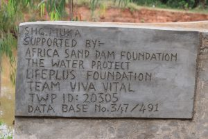 The Water Project:  Shallow Well Plaque