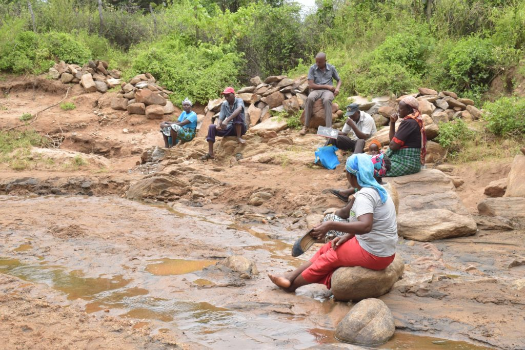 The Water Project : kenya20328-20329-self-help-group-members-at-the-river