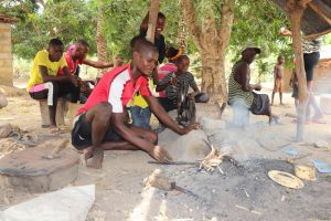 The Water Project:  Blacksmith Making Cutlass