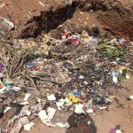 The Water Project: Kaffu Bullom, Kasongha OIC Vocational School -  Garbage Pit