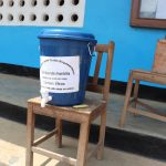 The Water Project: Kaffu Bullom, Kasongha OIC Vocational School -  Hand Washing Container