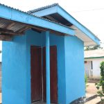 The Water Project: Kaffu Bullom, Kasongha OIC Vocational School -  Staff Quarter Latrine
