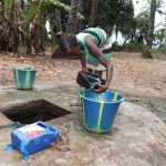 The Water Project: Lokomasama, Matong Village -  Small Girl Carrying Water At Alternate Water Source