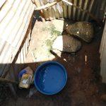 The Water Project: Mushikulu B Community, Olando Spring -  Bathing Shelter Inside