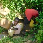 The Water Project: Mushikulu B Community, Olando Spring -  Collecting Water From Olando Spring