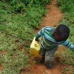 The Water Project: Mushikulu B Community, Olando Spring -  Taking Water Home From Olando Spring