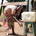 The Water Project: Sharambatsa Community, Mihako Spring -  Anne Handwashing At Home