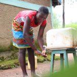 The Water Project: Sharambatsa Community, Mihako Spring -  Faith Cleaning Her Hands